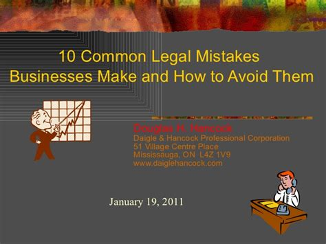 Organizations 10 Mistakes That Most Make by Ten Common Mistakes Businesses Make