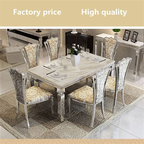 modern dining room table sets contemporain moderne salle 224 manger ensemble en acier