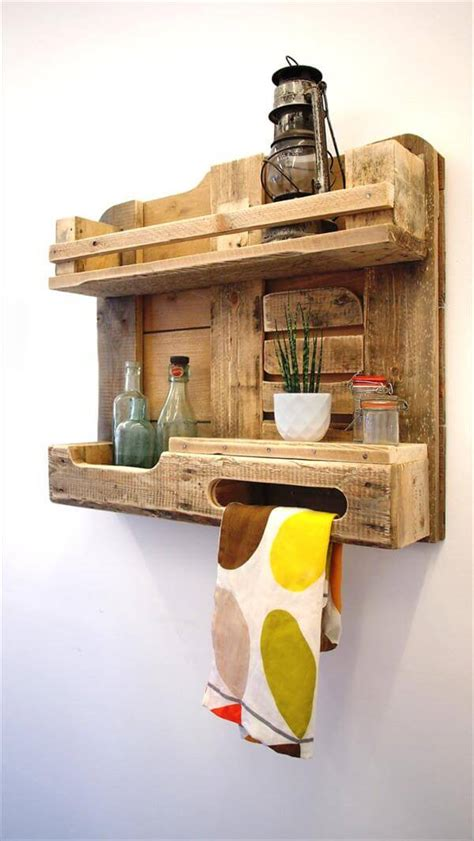 Large Wooden Spice Racks Wall Mounted Diy Pallet Wood Kitchen Shelf Wall Unit 101 Pallets