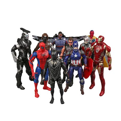 Figure Wars Isi 10 jual mainan toys figure captain america civil war set isi 10 baru figure