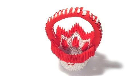 3d Origami Basket Tutorial - 3d origami flower basket tutorial