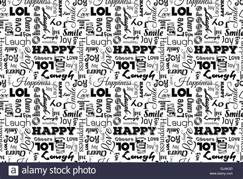 pattern of the words seamless pattern with words happy joy laugh smile
