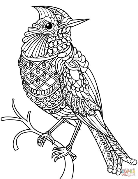 cardinal coloring page northern cardinal zentangle coloring page free printable