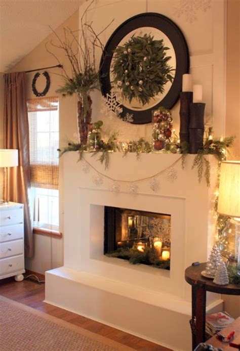 christmas ornaments ideas with fireplaces design