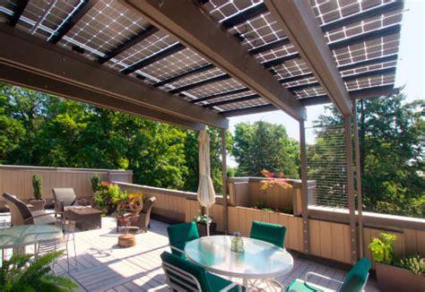 verande solari coperture per pannelli fotovoltaici per terrazzi