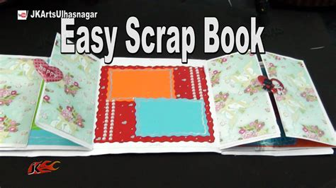 How To Make A Paper Scrapbook - how to make a scrapbook diy scrapbook tutorial