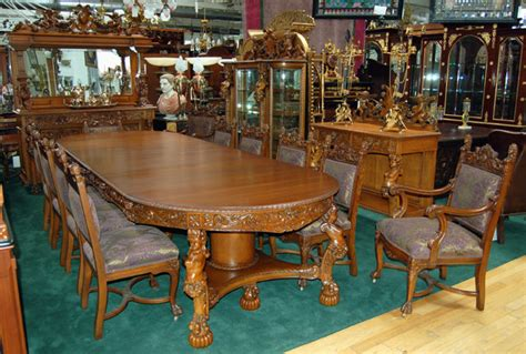 oak dining room sets for sale figural carved 16 pc oak dining room set with figural