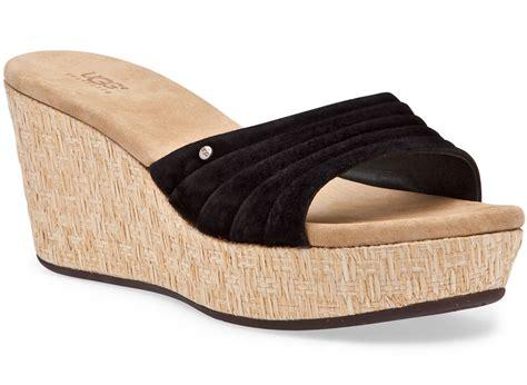 ugg wedge sandals ugg alvina wedge sandals ugg alvina wedge sandals black