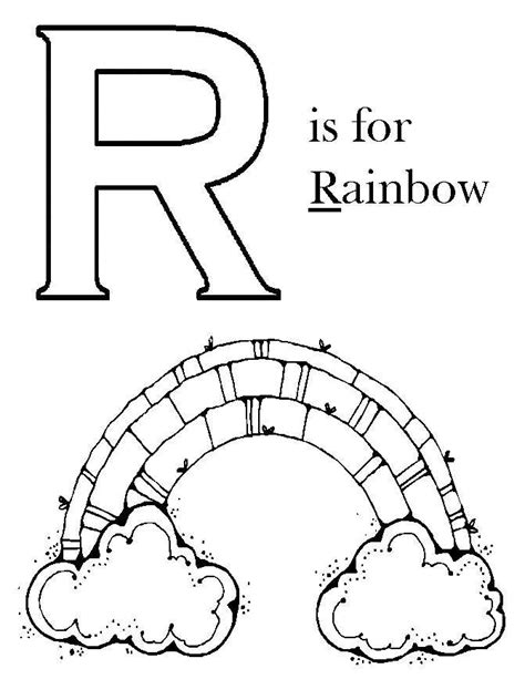 rainbow coloring page kindergarten rainbow coloring page preschool color pages pinterest