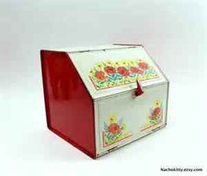 Green Kitchen Storage Jars - 1950s bread box storage organization office or by barnowlgoods