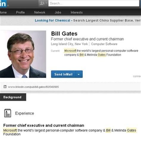 fotos para perfil linkedin bill gates cria perfil no linkedin