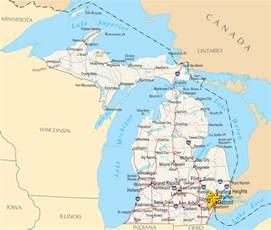 Michigan On Map by Michigan Reference Map Mapsof Net