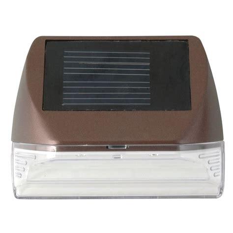moonrays solar lights moonrays solar powered mini led bronze outdoor deck light