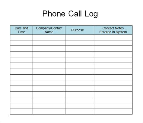 media contact list template phone call list template search call log