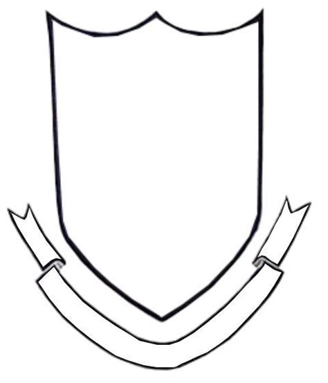 school shield template blank sheild clipart best