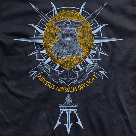 crossing the equator tattoo limited edition davy jones golden shellback normal fit t