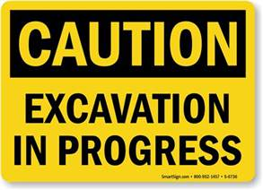 excavation signs mysafetysign com