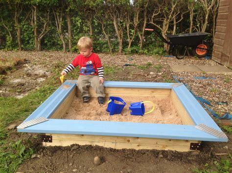 diy pit sand how to build a children s sandpit b q diy challenge
