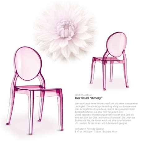 stuhl pink acryl stuhl plexiglas stuhl durchsichtiger