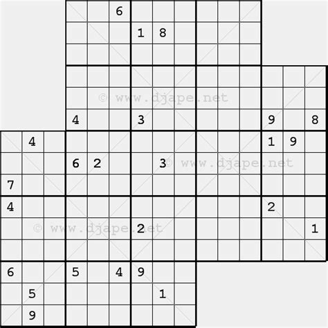 printable triple sudoku triple diagonal sudoku x