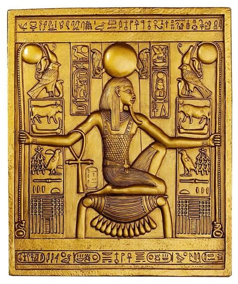 ancient egyptian temple wall decor king tut sculptural