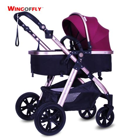 Alas Stroller Baby 1 aliexpress buy high view stroller baby with aluminum alloy frame bidirectional pushchair