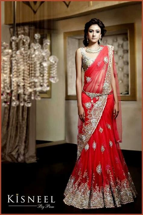 how to drape a lengha saree indian wedding clothes