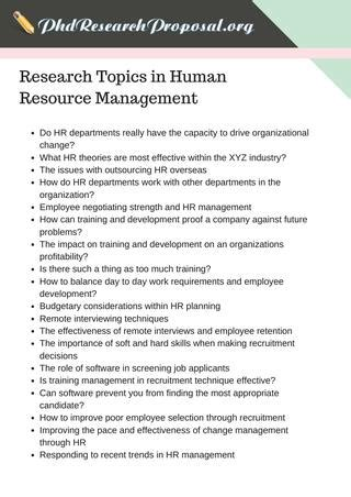 thesis abstract human resource management best research proposal topics in human resource management