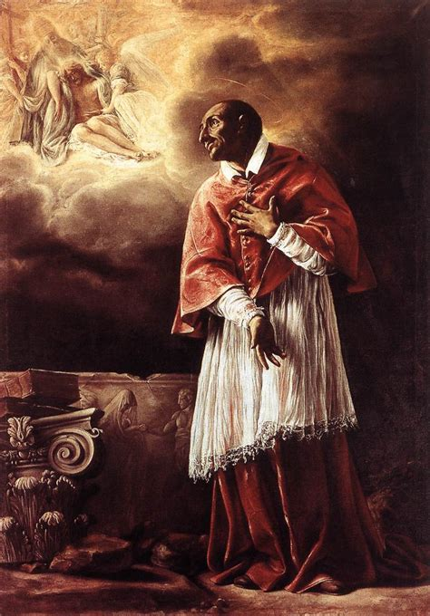 who was st st carlo borromeo by borgianni orazio