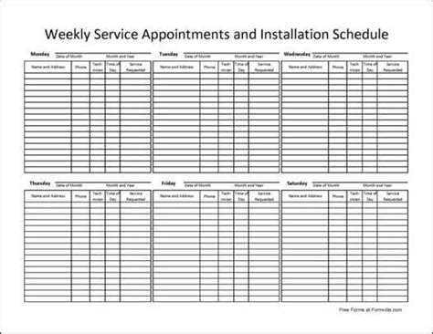 appointment list template top daily appointment template wallpapers