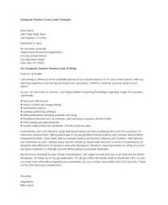 Computer Science Cover Letter by How To Write A Covering Letter For A Teaching