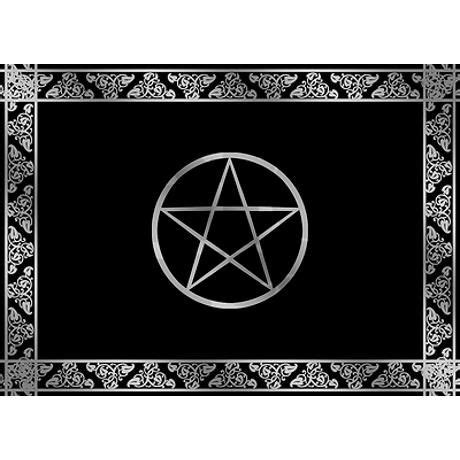 wiccan rug silver wiccan pentacle 5 x7 area rug on