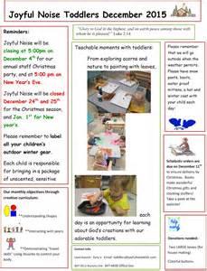 toddler newsletter templates toddler room news december 2015 newsletter