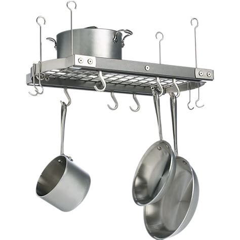 Small Pot Racks j k small grey ceiling pot rack crate and barrel