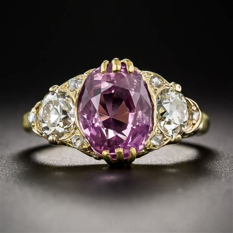 4 50 carat pink sapphire and vintage style
