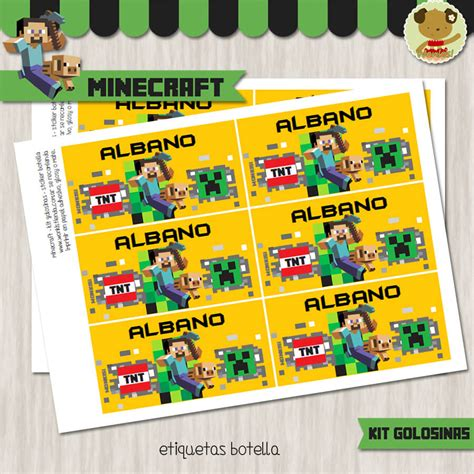 imprimible de minecraft para cumpleanos kits para imprimir gratis minecraft kit candy bar golosinas
