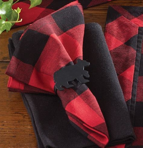 Buffalo Check Placemats, Napkins, and Table Runner