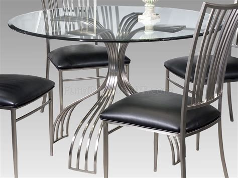brushed nickel dining table dining table glass brushed nickel dining table