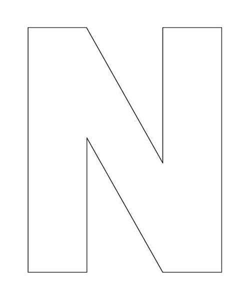 letter n template 7 best images of printable block letter n block letter