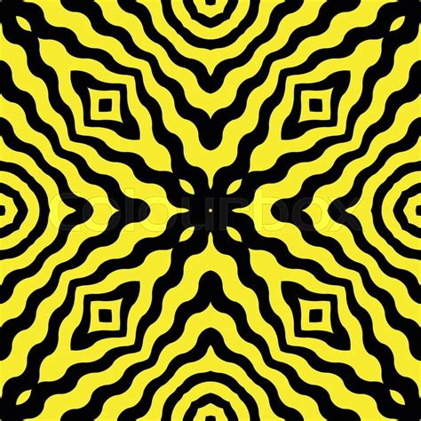 yellow wavy pattern diagonal wavy yellow stripes pattern against black