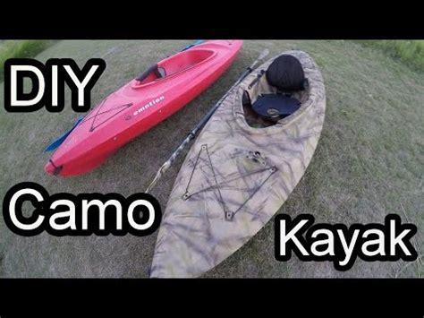 spray paint kayak camo painting my kayak