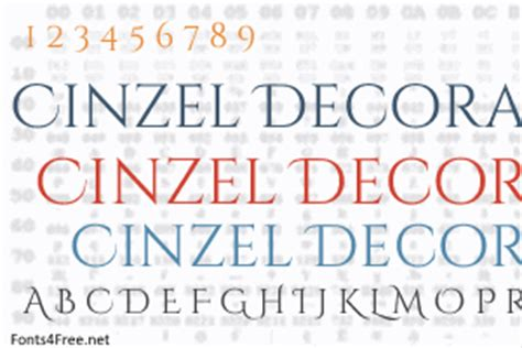 Cinzel Decorative by Cinzel Decorative Font Fonts4free