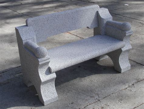 stone garden bench with back new england style granite bench