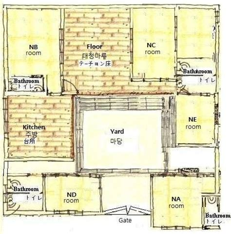 hanok floor plan 85 best hanok house korea images on pinterest
