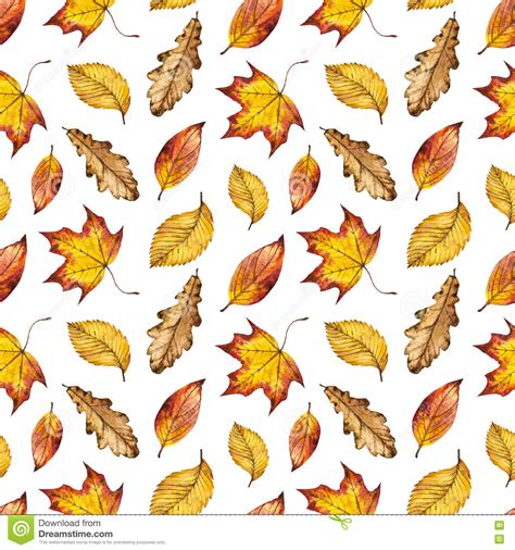 watercolor seamless pattern with pink and orange autumn watercolour autumn background of yellow orange and red