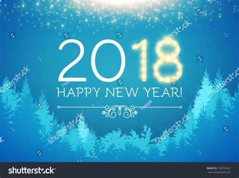 new year vacation 2018 happy new 2018 year background stock vector