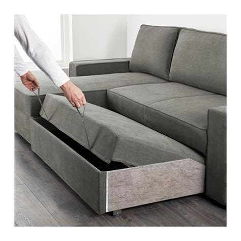 ikea chaise long vilasund sofa bed with chaise longue borred grey green ikea