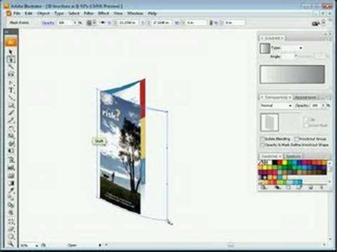 illustrator tutorial brochure design youtube 3d brochure in adobe illustrator creative inspiration