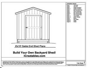 Backyard Shed Foundation by Shed Plans How To Build A Shed With Icreatables Diy