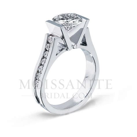Tension Set Engagement Rings by Tension Set Moissanite Engagement Ring